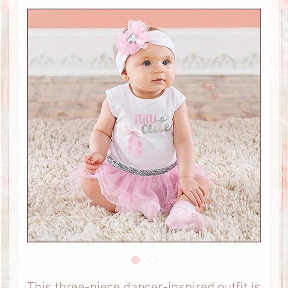 dbc1b483ebfd Baby Aspen - 3 piece Ballerina Tutu dress set